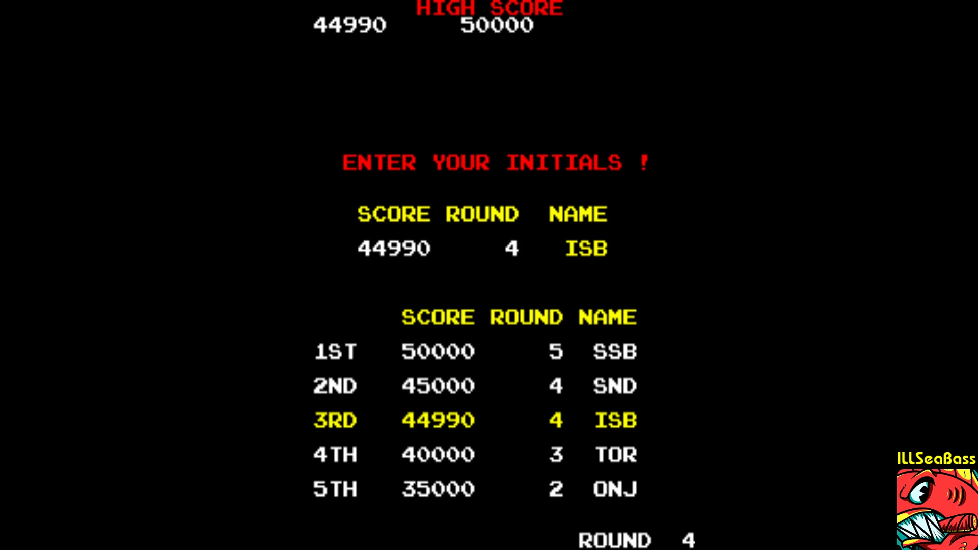 ILLSeaBass: Tournament Arkanoid [arkatour] (Arcade Emulated / M.A.M.E.) 44,990 points on 2018-01-05 22:30:49