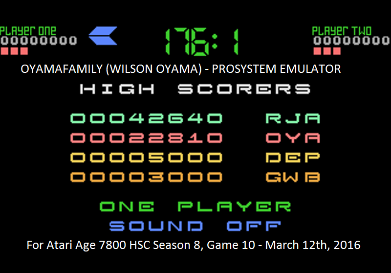 oyamafamily: Tower Toppler (Atari 7800 Emulated) 22,810 points on 2016-03-13 05:56:57