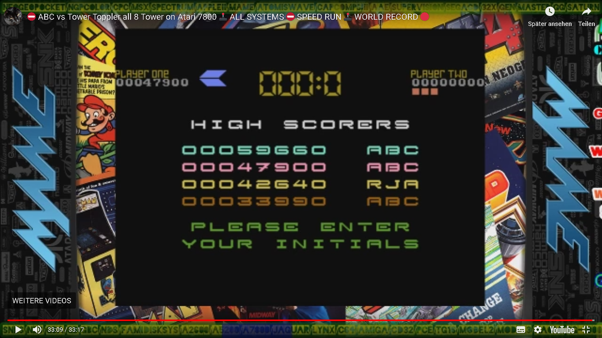 ArcadePlayerABC: Tower Toppler (Atari 7800 Emulated) 47,900 points on 2019-12-16 05:26:24