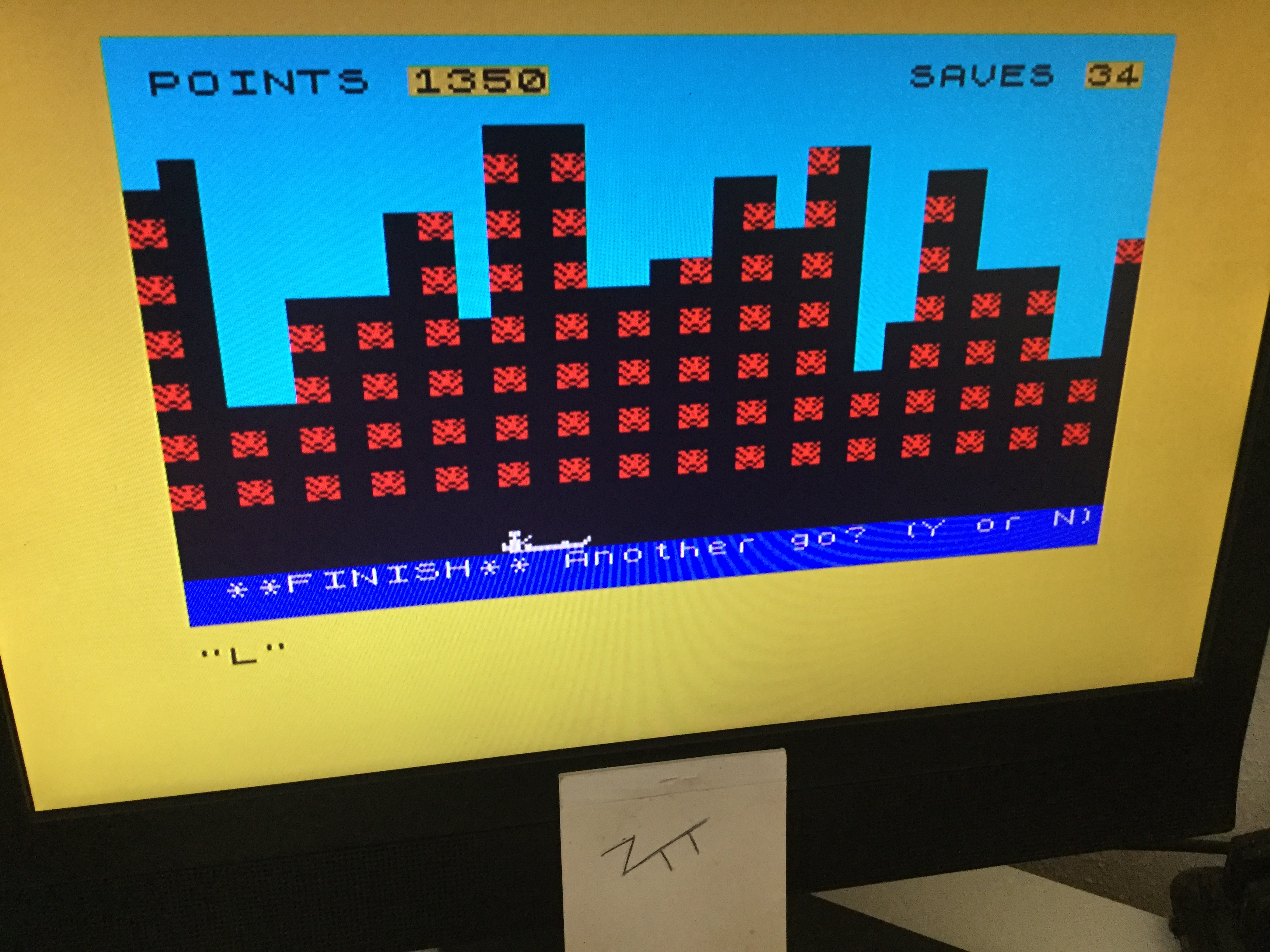 Frankie: Towering Inferno  [ZX Computing] (ZX Spectrum) 1,350 points on 2020-10-03 04:47:54