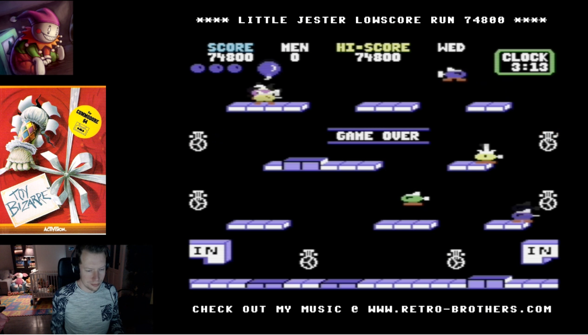 LittleJester: Toy Bizarre (Commodore 64 Emulated) 74,800 points on 2018-02-21 15:38:27
