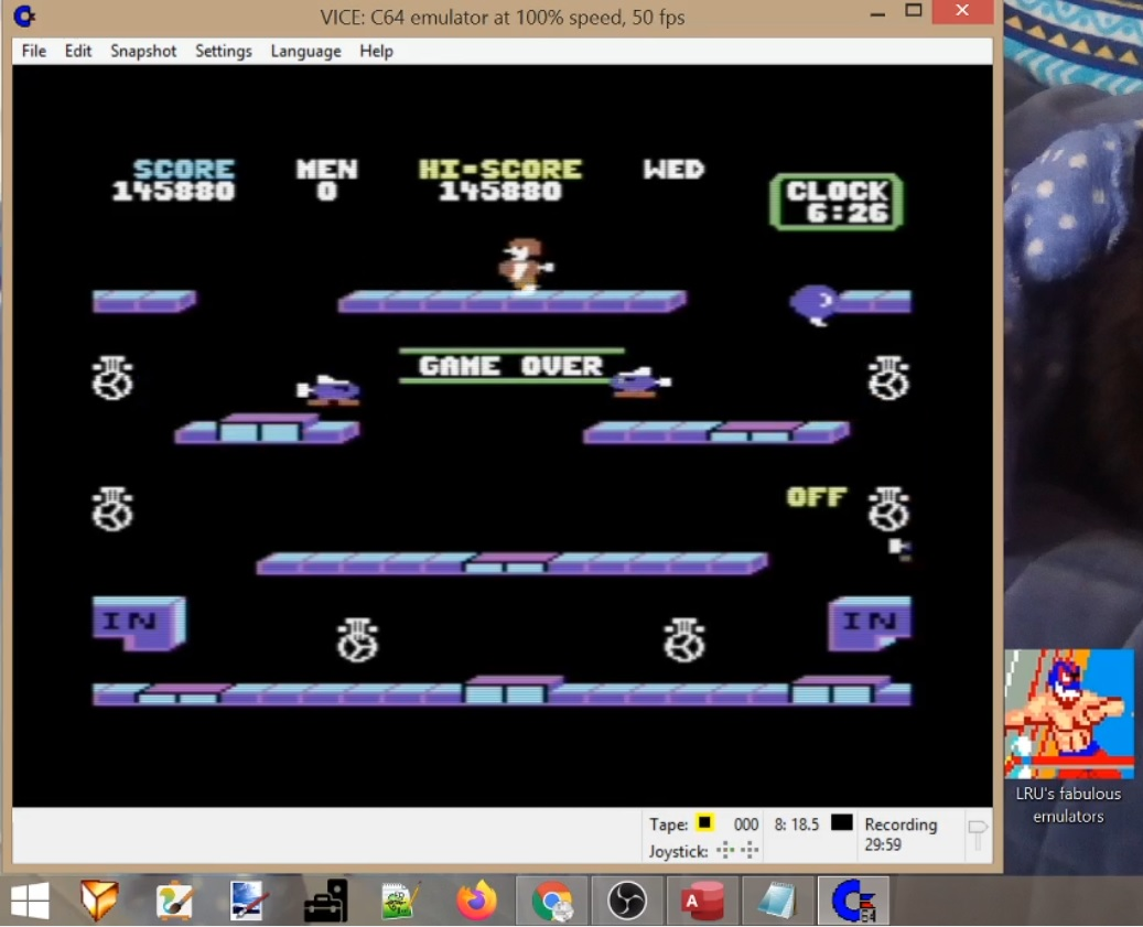 LuigiRuffolo: Toy Bizarre (Commodore 64 Emulated) 145,880 points on 2020-05-28 12:09:47