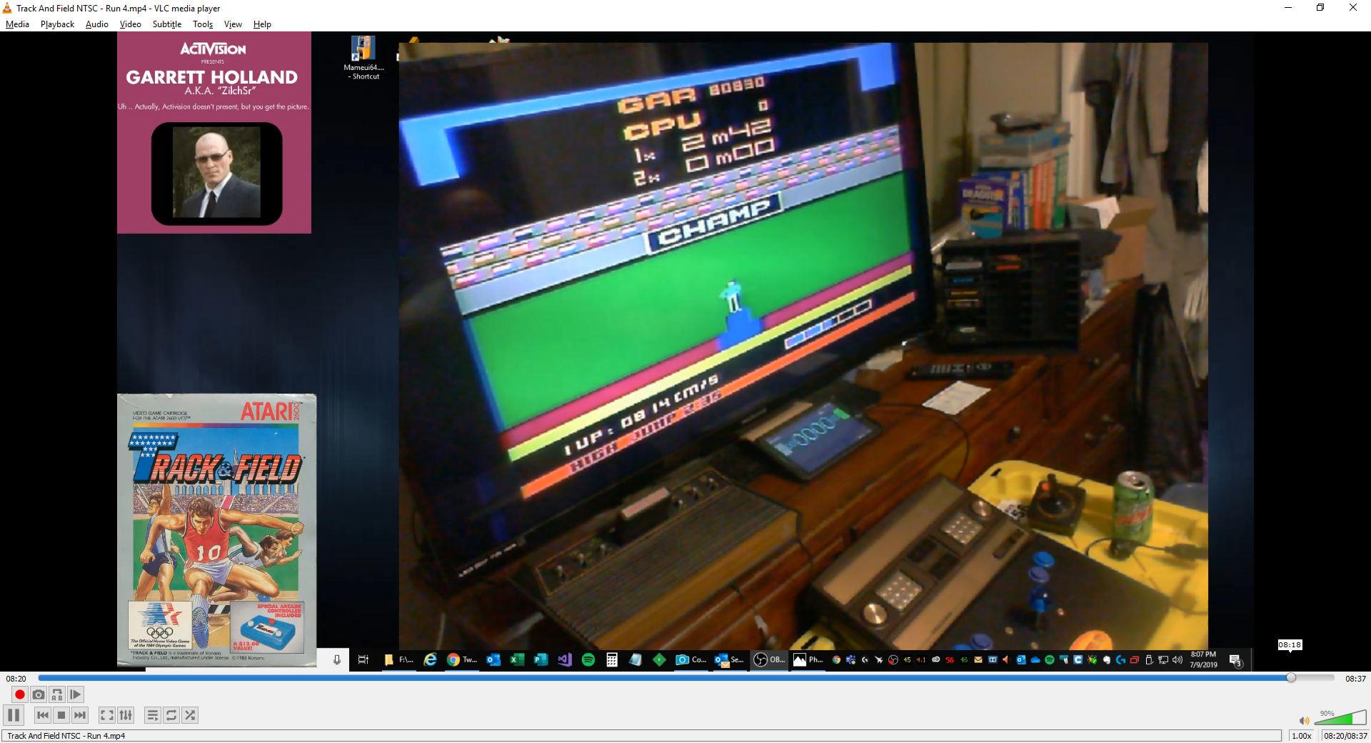 ZilchSr: Track and Field (Atari 2600 Novice/B) 80,830 points on 2019-08-08 20:56:58
