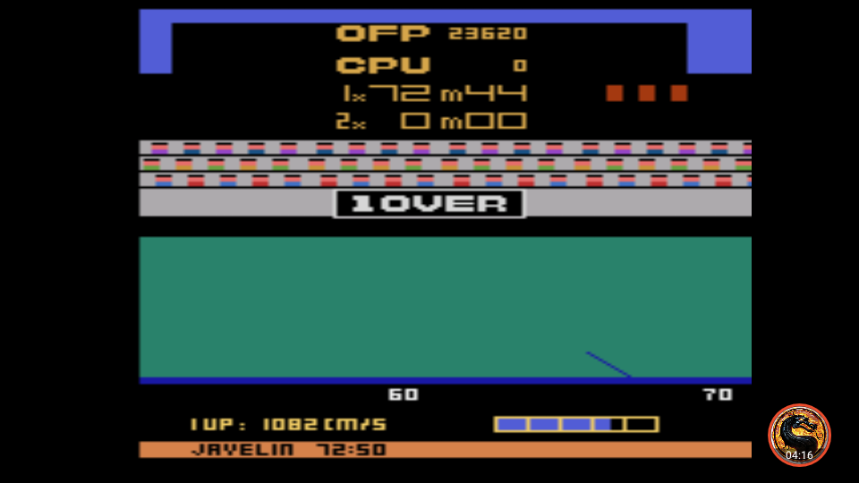omargeddon: Track and Field (Atari 2600 Emulated Novice/B Mode) 23,620 points on 2019-09-16 09:41:49