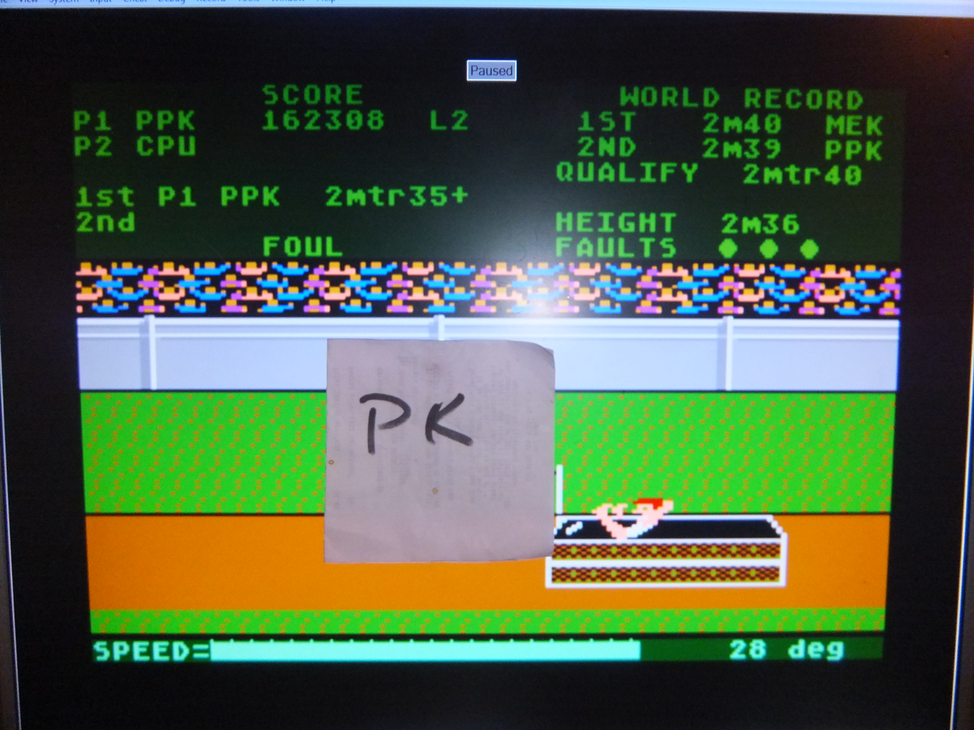 kernzy: Track and Field (Atari 400/800/XL/XE Emulated) 162,308 points on 2015-10-11 08:28:11