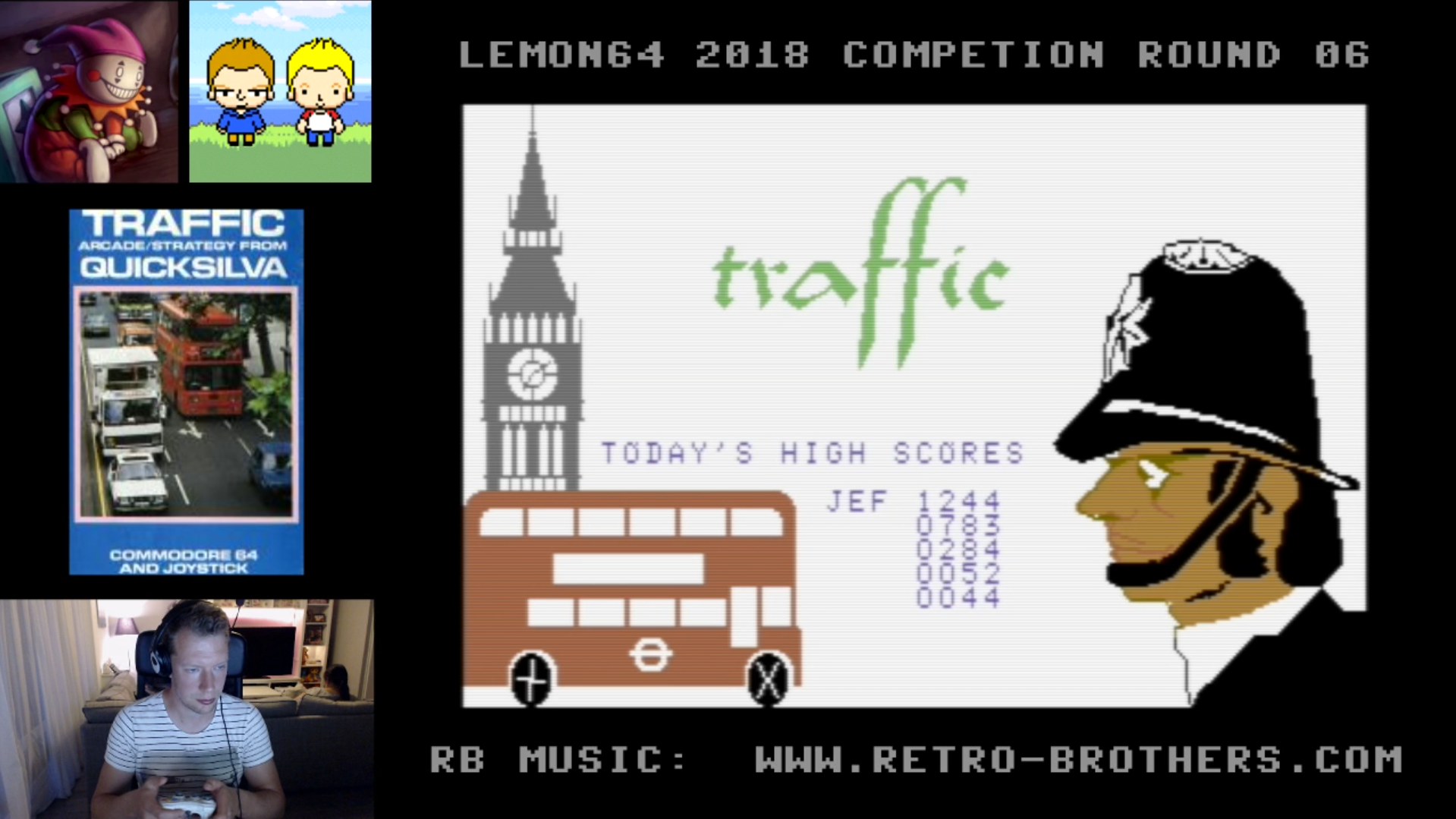 LittleJester: Traffic (Commodore 64 Emulated) 1,244 points on 2018-06-05 17:00:22