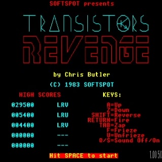 LuigiRuffolo: Transistors Revenge (BBC Micro Emulated) 29,500 points on 2021-02-23 07:53:15