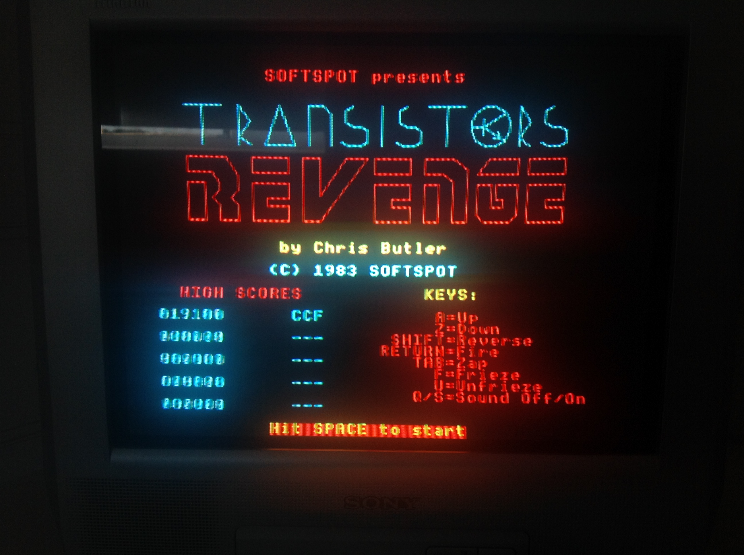CoCoForest: Transistors Revenge (BBC Micro) 19,100 points on 2018-07-03 05:11:46
