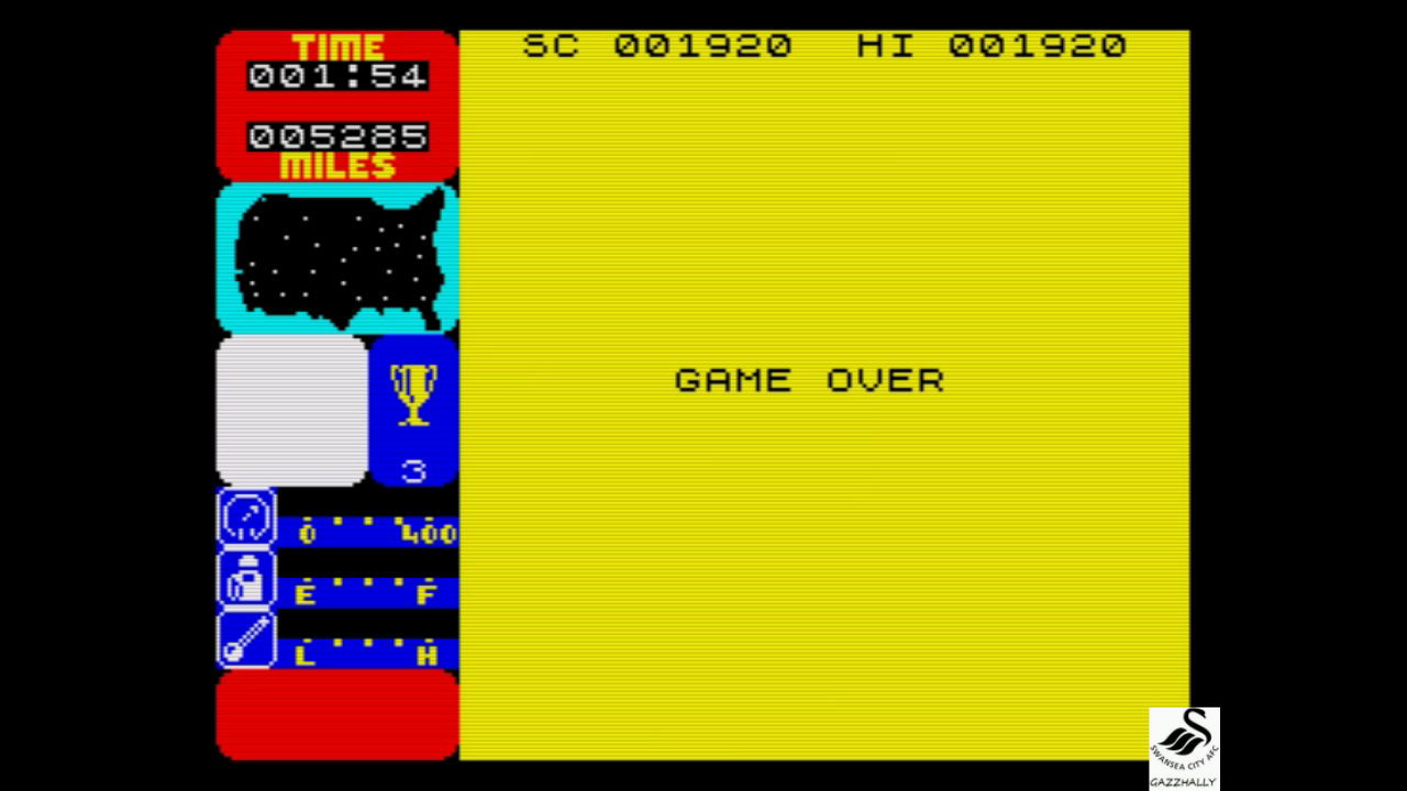 gazzhally: Tranz Am (ZX Spectrum Emulated) 1,920 points on 2017-07-24 13:43:15