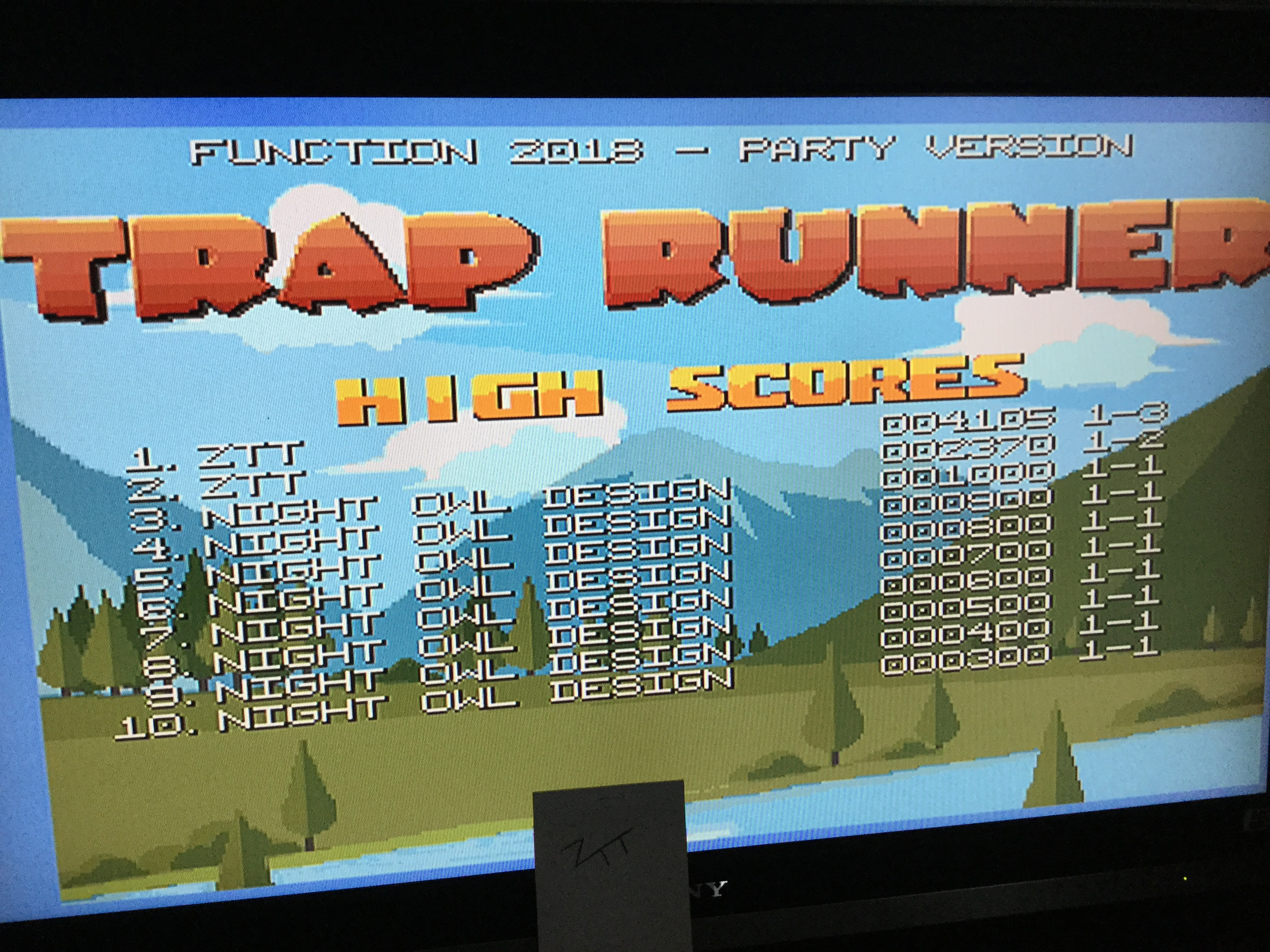 Trap Runner 4,105 points