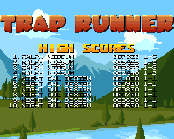 RalphWiggum: Trap Runner (Amiga) 7,320 points on 2019-08-15 14:37:38