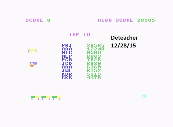 Deteacher: Trashman (Commodore 64 Emulated) 28,585 points on 2015-12-28 20:31:56