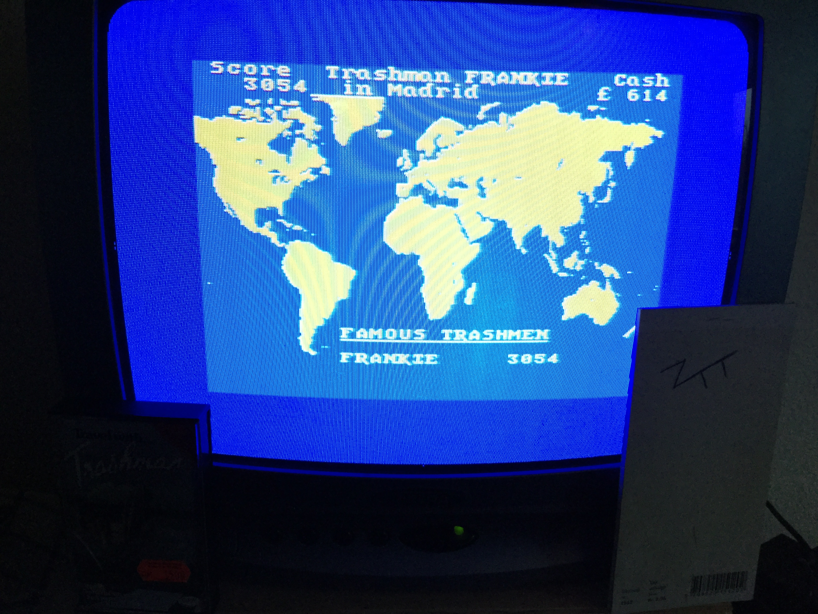 Frankie: Travel with Trashman (ZX Spectrum) 3,054 points on 2018-12-26 06:39:24