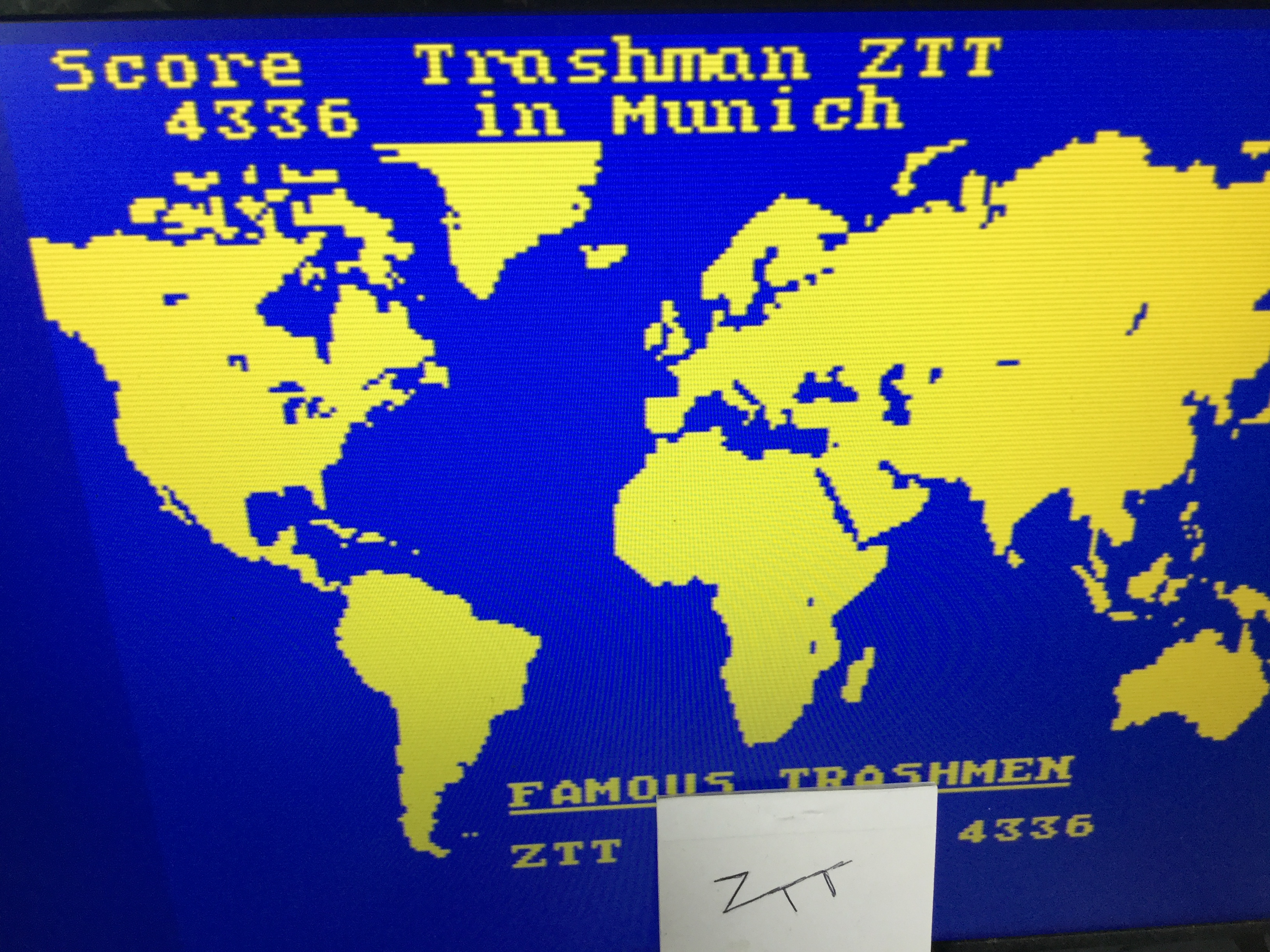 Frankie: Travel with Trashman (ZX Spectrum Emulated) 4,336 points on 2019-03-10 04:42:14