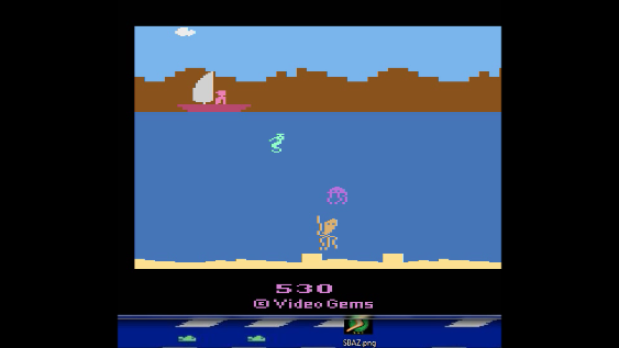 S.BAZ: Treasure Below (Atari 2600 Emulated) 530 points on 2018-09-17 23:55:26