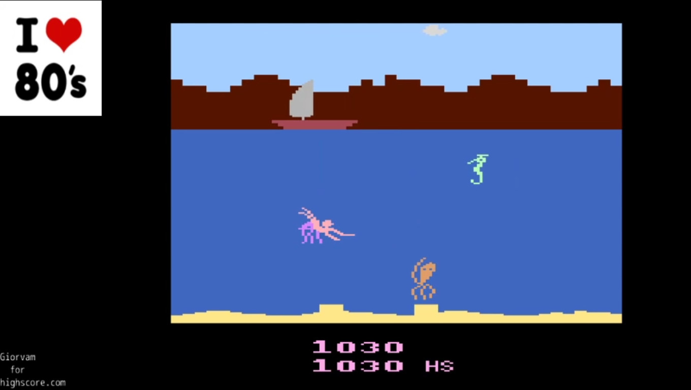 Giorvam: Treasure Below (Atari 2600 Emulated) 1,030 points on 2019-12-30 03:03:12