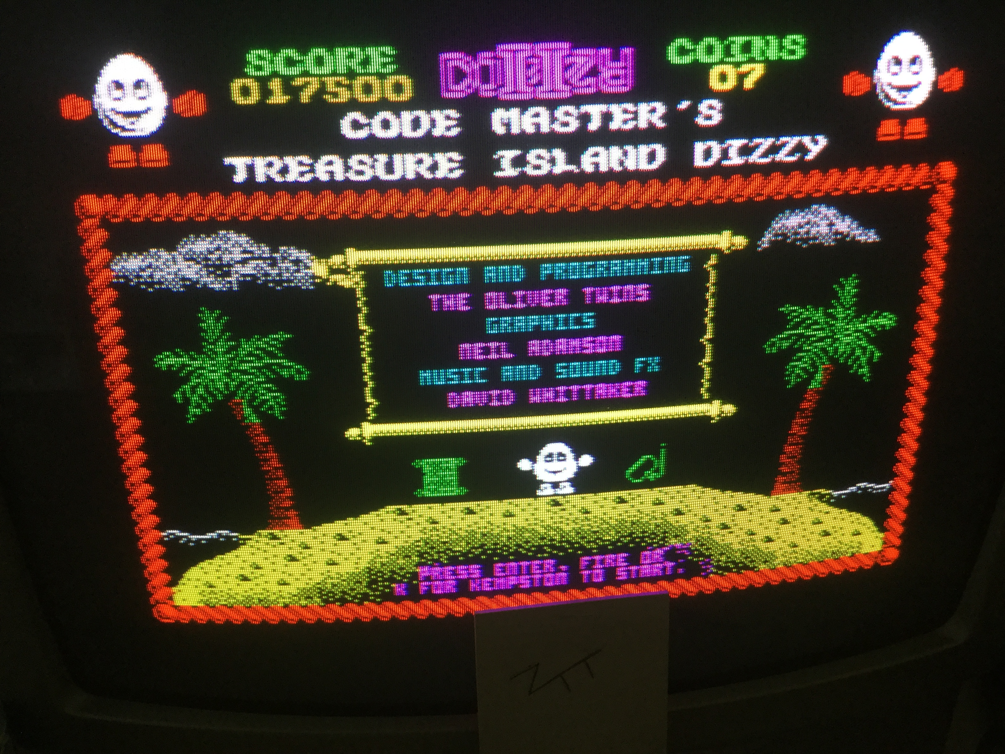 Frankie: Treasure Island Dizzy (ZX Spectrum) 17,500 points on 2019-06-03 12:02:38