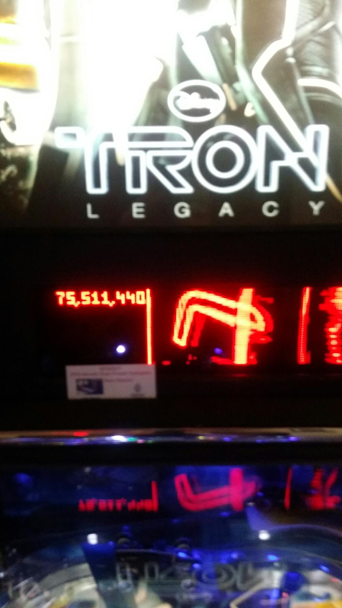 Tron 75,511,440 points