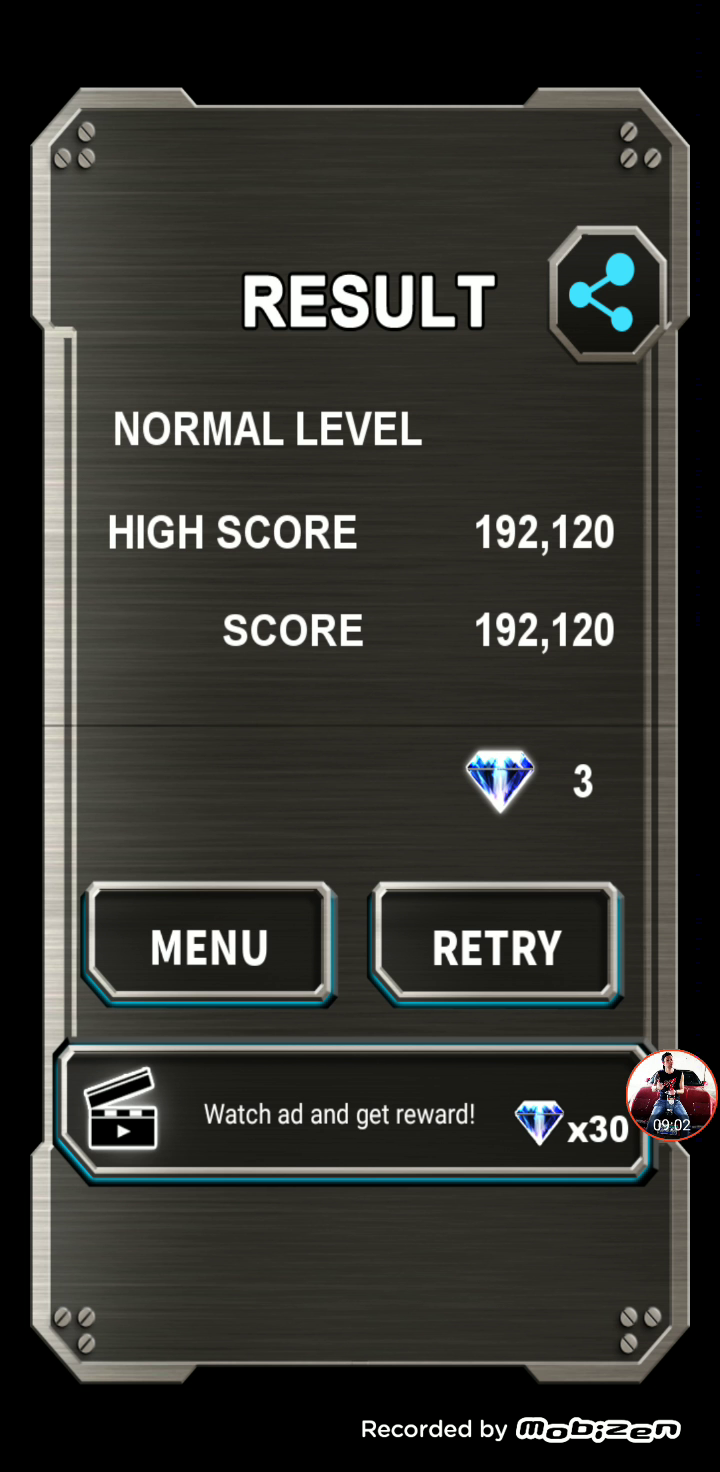 JES: Truxton Classic [Normal] (Android) 192,120 points on 2020-01-15 19:20:01