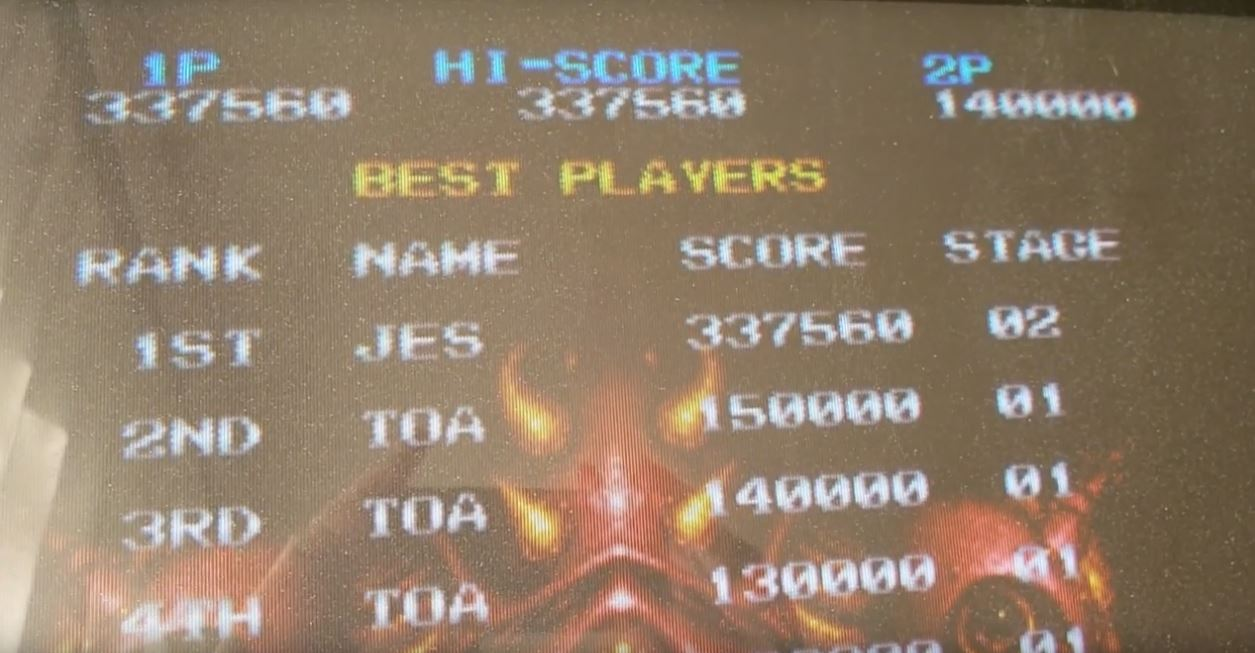 JES: Truxton II / Tatsujin Oh [truxton2] (Arcade Emulated / M.A.M.E.) 337,560 points on 2019-03-02 07:06:31