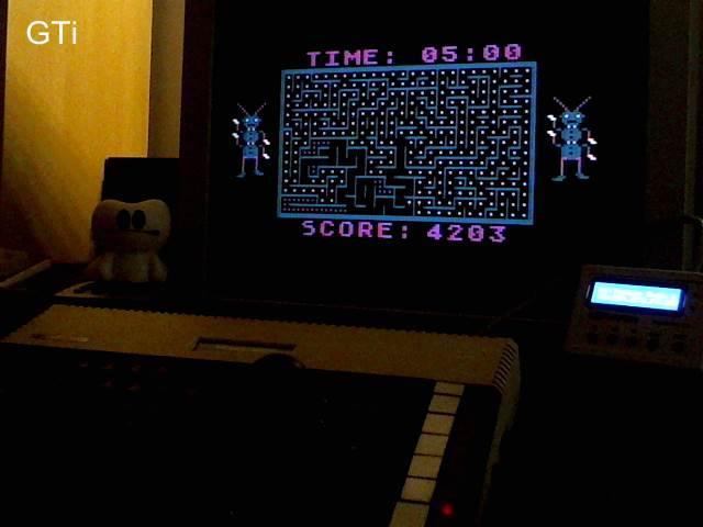 GTibel: Tumble Bugs (Atari 400/800/XL/XE) 4,203 points on 2017-09-30 04:05:04