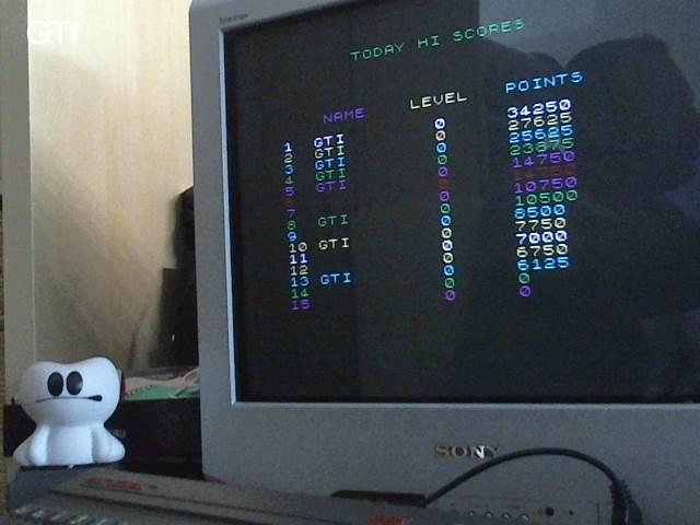 GTibel: Tuneles Marcianos (ZX Spectrum) 34,250 points on 2017-06-17 04:30:41