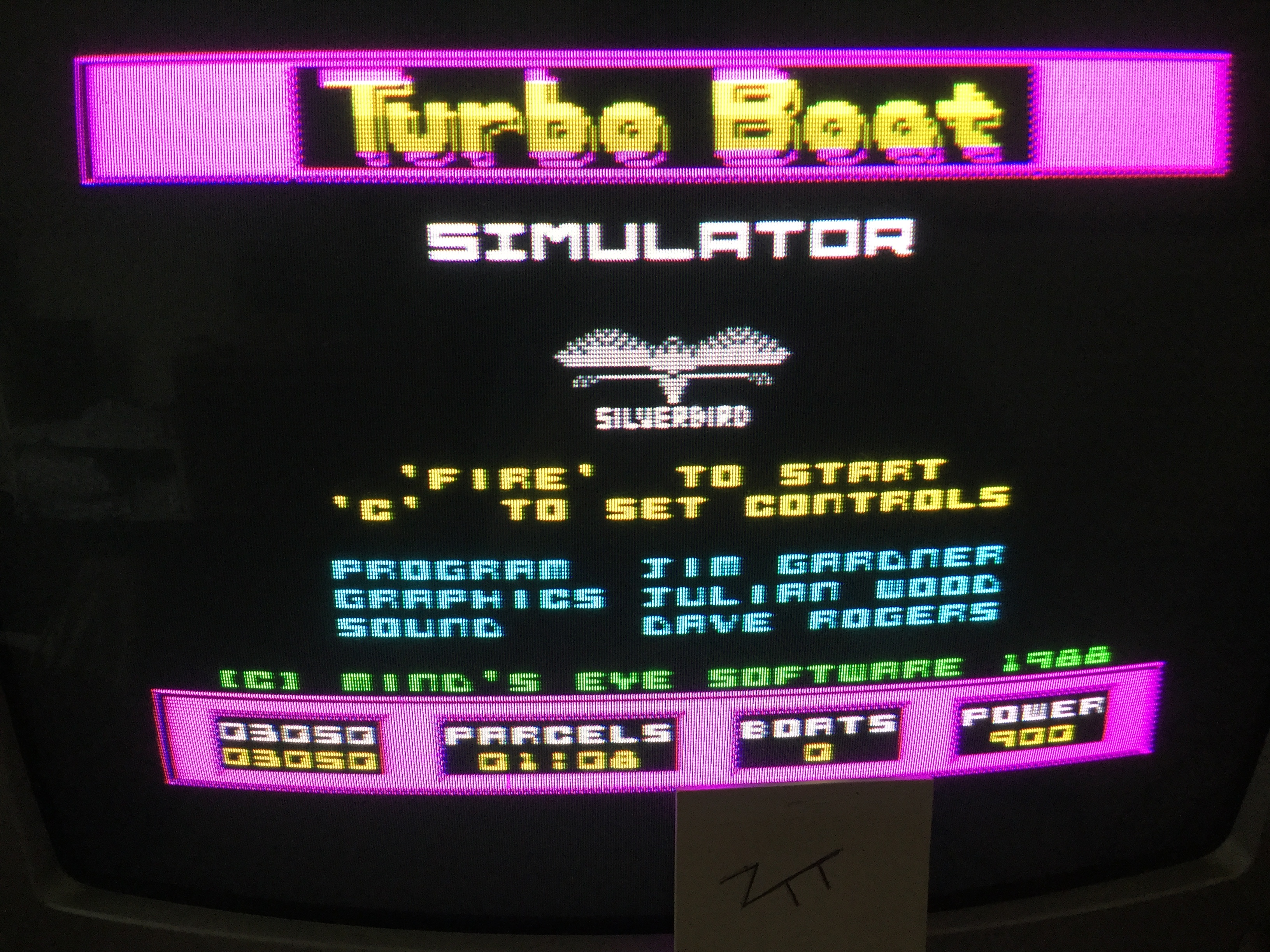 Frankie: Turbo Boat Simulator (ZX Spectrum) 3,050 points on 2017-09-24 05:08:05