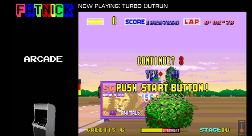 mechafatnick: Turbo Outrun (Arcade Emulated / M.A.M.E.) 13,297,250 points on 2016-09-21 00:06:38