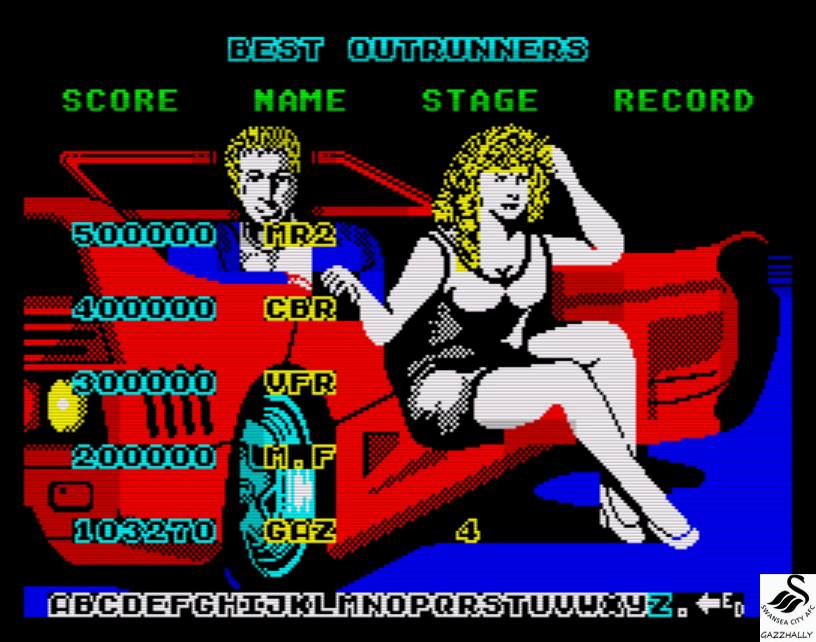 gazzhally: Turbo Outrun (ZX Spectrum Emulated) 103,270 points on 2017-04-29 13:53:05