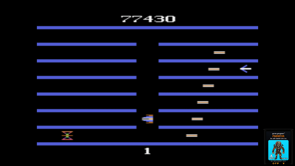 omargeddon: Turmoil (Atari 2600 Emulated) 77,430 points on 2017-06-25 12:38:56