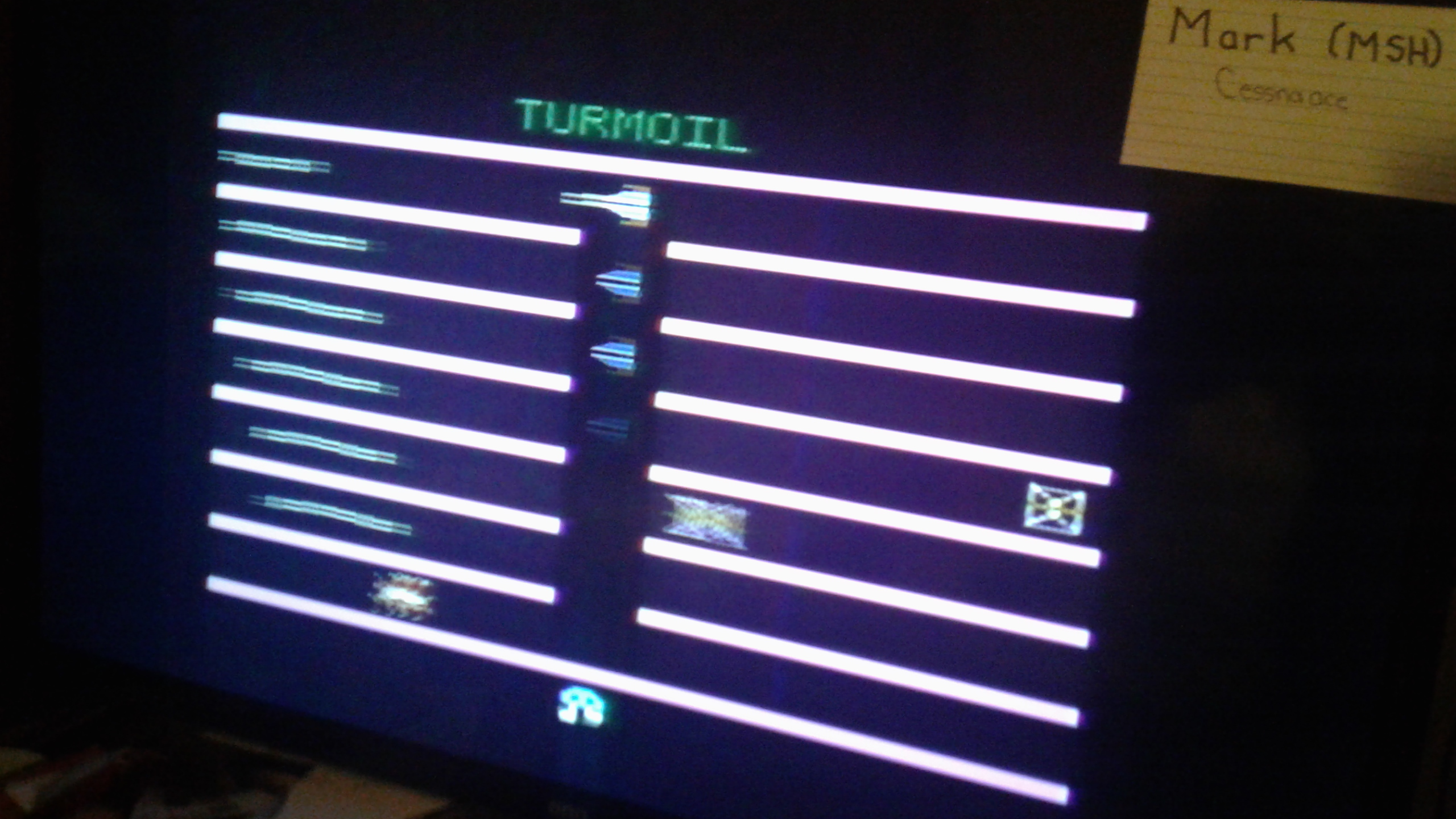 Mark: Turmoil (Atari 2600) 40,280 points on 2020-05-24 02:25:54
