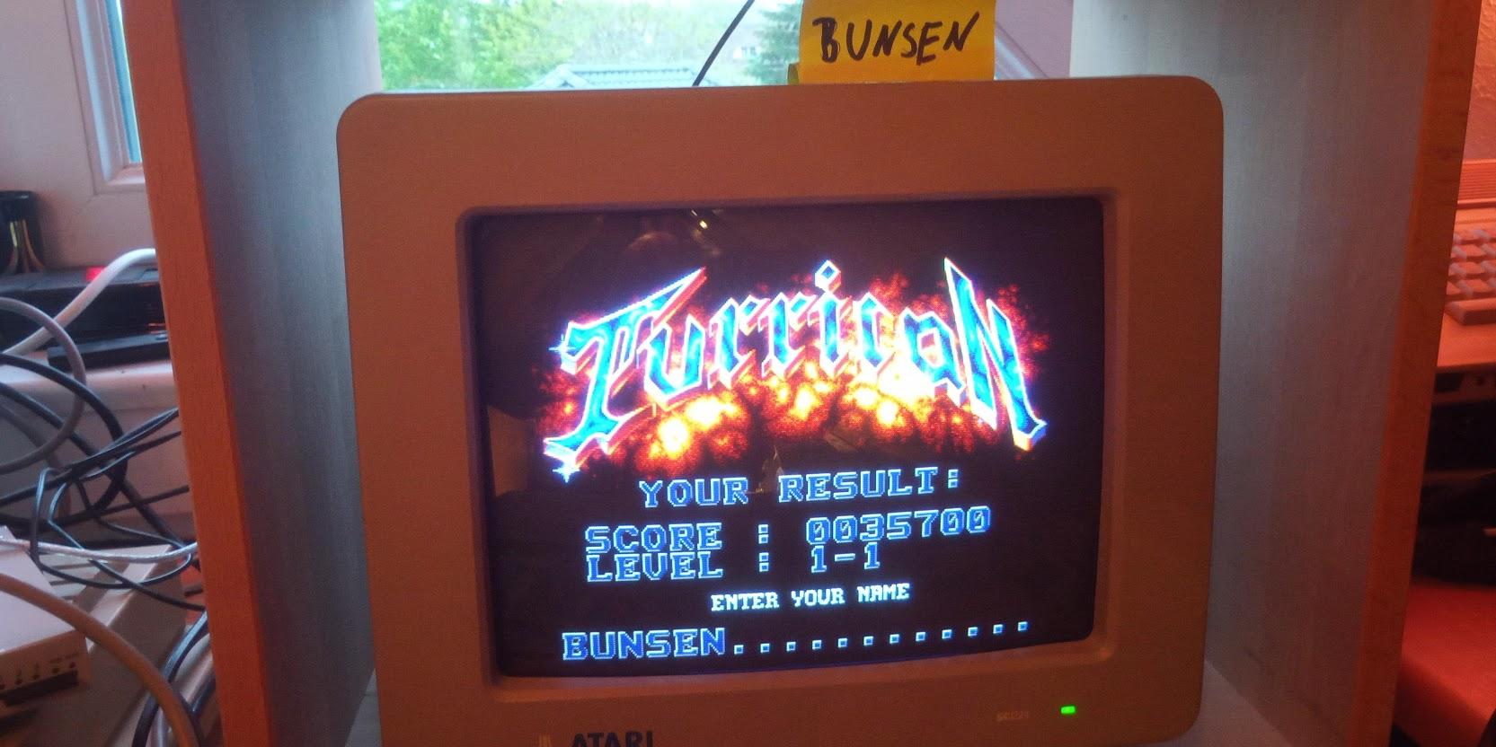 Bunsen: Turrican (Atari ST) 35,700 points on 2021-05-22 15:19:22
