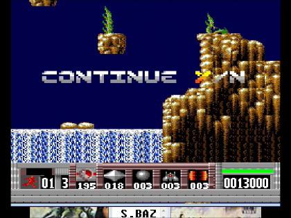 S.BAZ: Turrican (TurboGrafx-16/PC Engine Emulated) 13,000 points on 2016-07-05 12:03:29