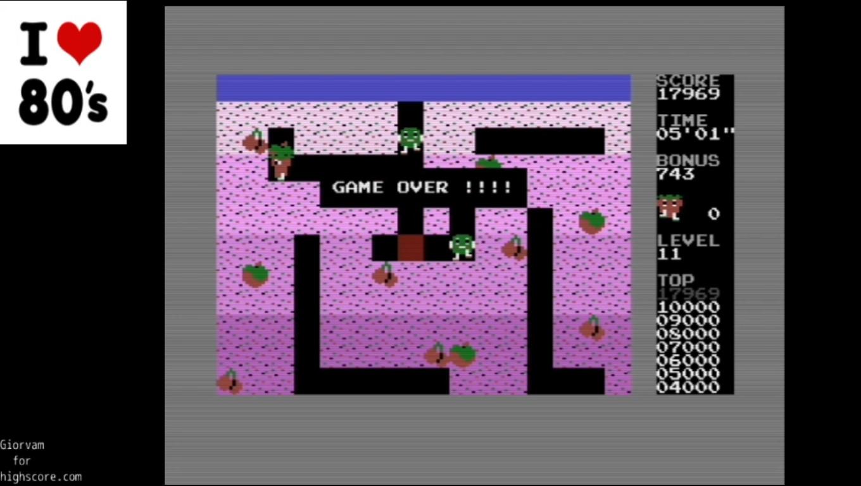 Giorvam: Tutti Frutti (Commodore 16/Plus4 Emulated) 17,969 points on 2020-01-04 11:55:06