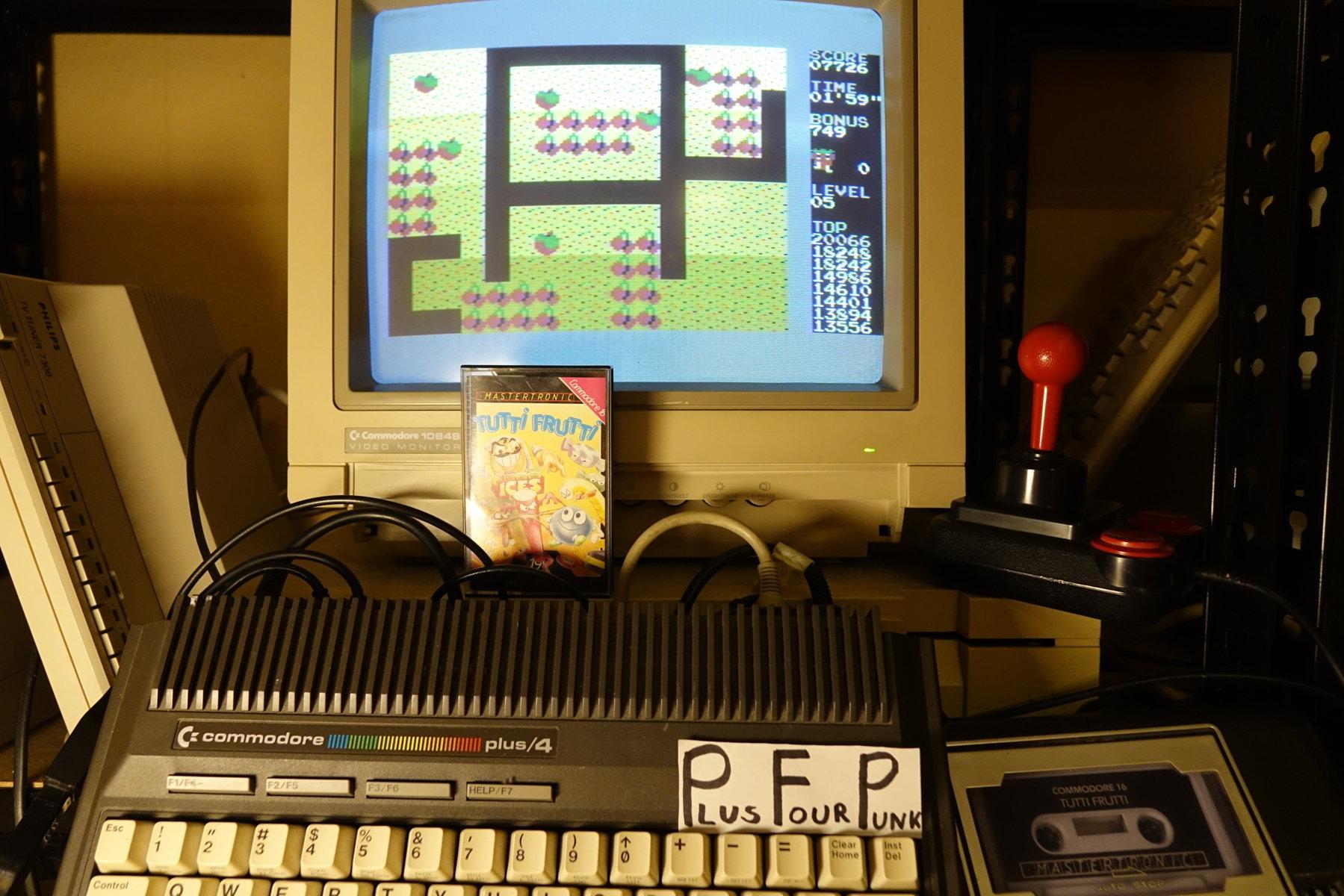plus4punk: Tutti Frutti (Commodore 16/Plus4) 20,066 points on 2020-02-28 14:48:32