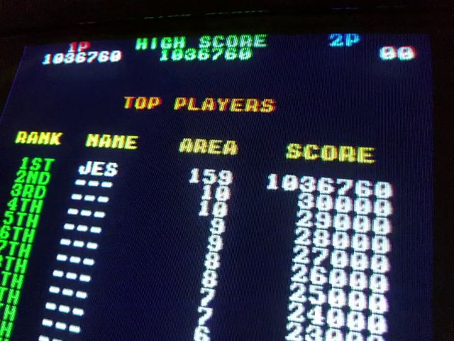 JES: Twin Cobra (Arcade Emulated / M.A.M.E.) 1,036,760 points on 2019-01-10 01:45:02