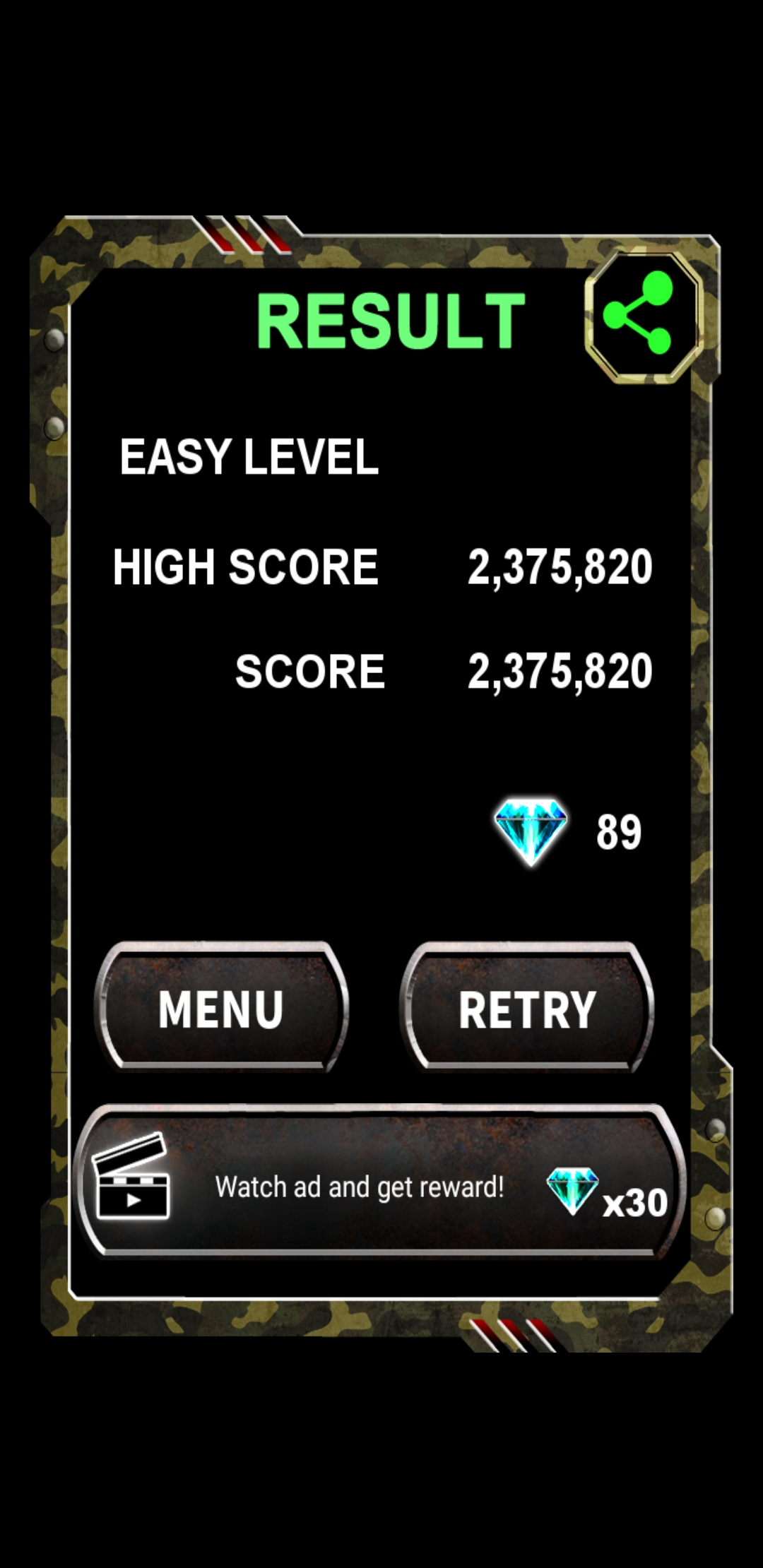 JES: Twin Cobra Classic [Easy] (Android) 2,375,820 points on 2019-12-05 03:05:09