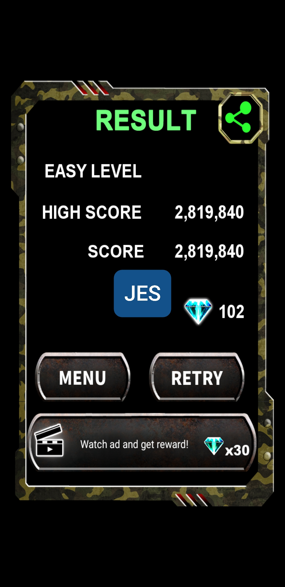 JES: Twin Cobra Classic [Normal] (Android) 2,819,840 points on 2019-12-05 13:38:49