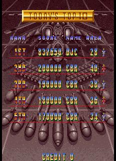 Twin Cobra II 837,650 points