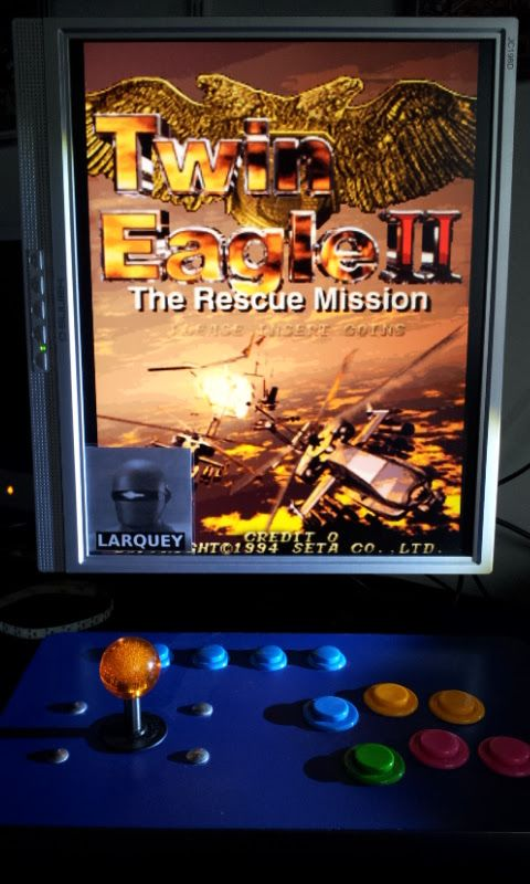 Larquey: Twin Eagle II: The Rescue Mission [twineag2] (Arcade Emulated / M.A.M.E.) 438,460 points on 2017-09-10 10:07:40