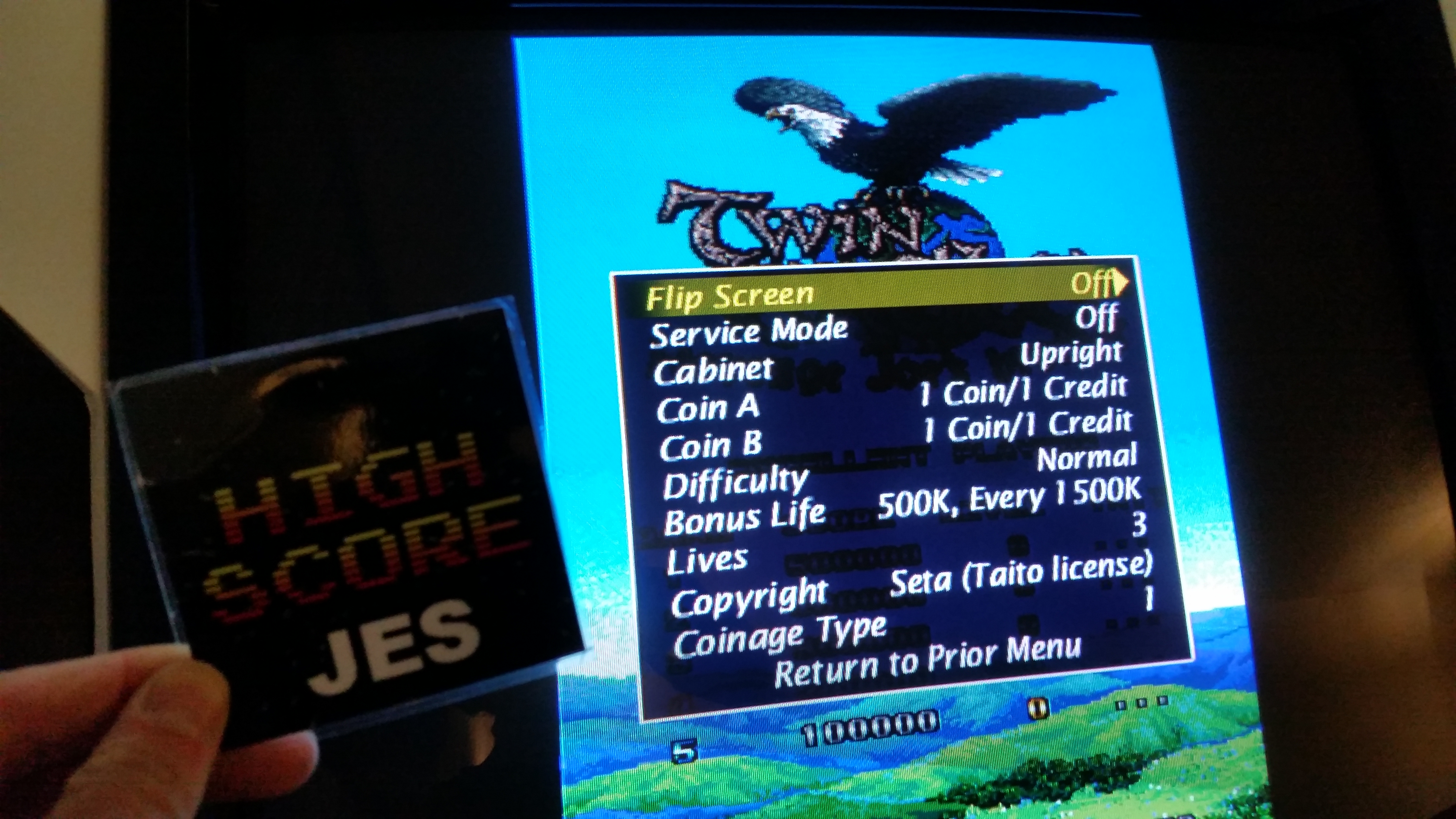 JES: Twin Eagle [twineagl] (Arcade Emulated / M.A.M.E.) 853,400 points on 2017-01-15 02:36:33