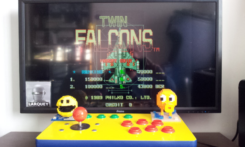 Larquey: Twin Falcons [twinfalc] (Arcade Emulated / M.A.M.E.) 43,800 points on 2017-03-10 10:30:55