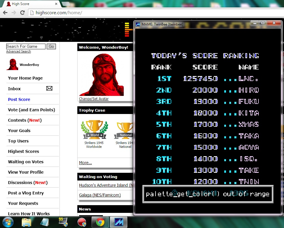 TwinBee 1,257,450 points