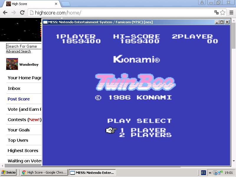 TwinBee 1,859,400 points
