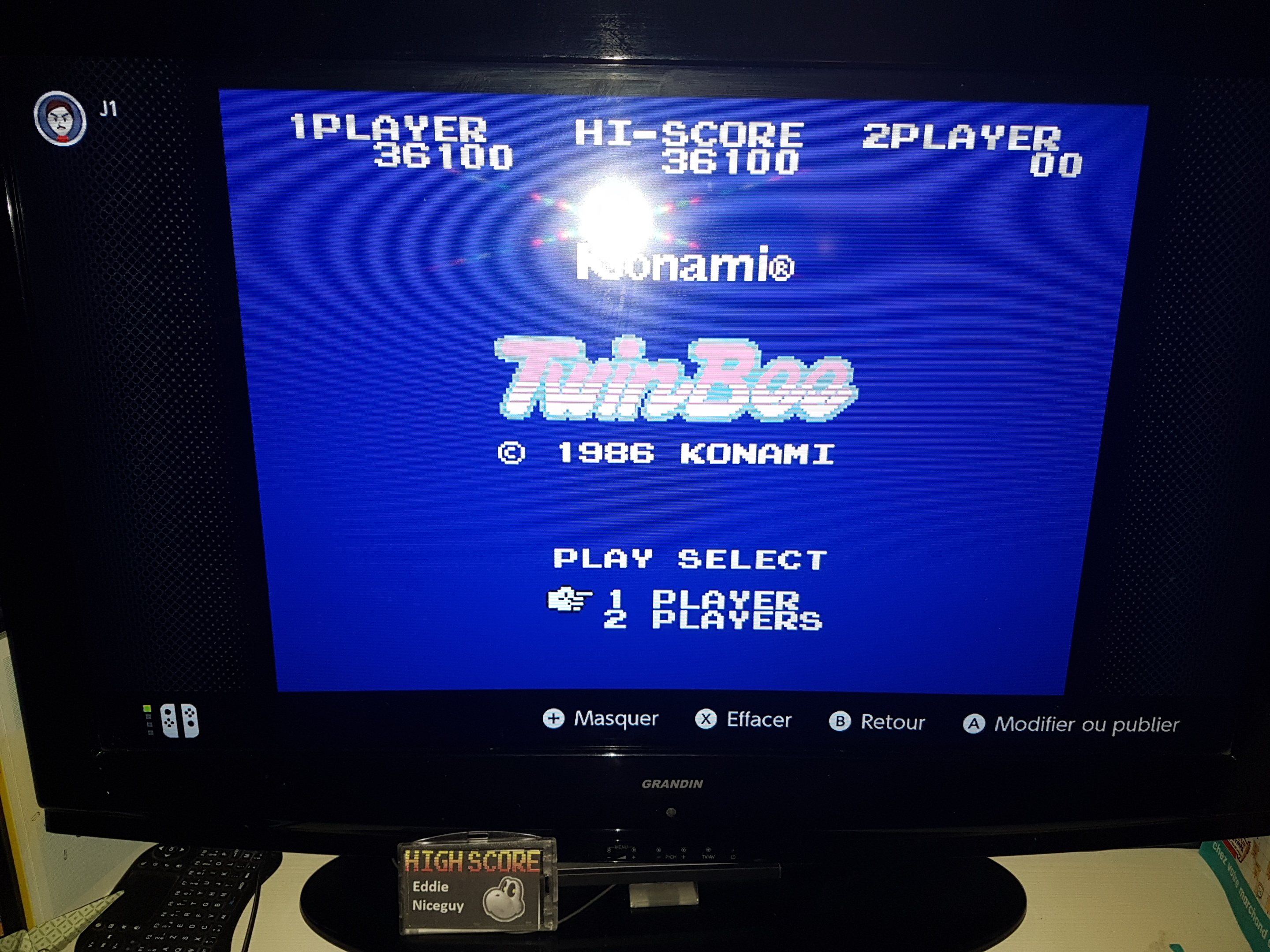 EddieNiceguy: TwinBee (NES/Famicom Emulated) 36,100 points on 2020-05-22 16:40:17