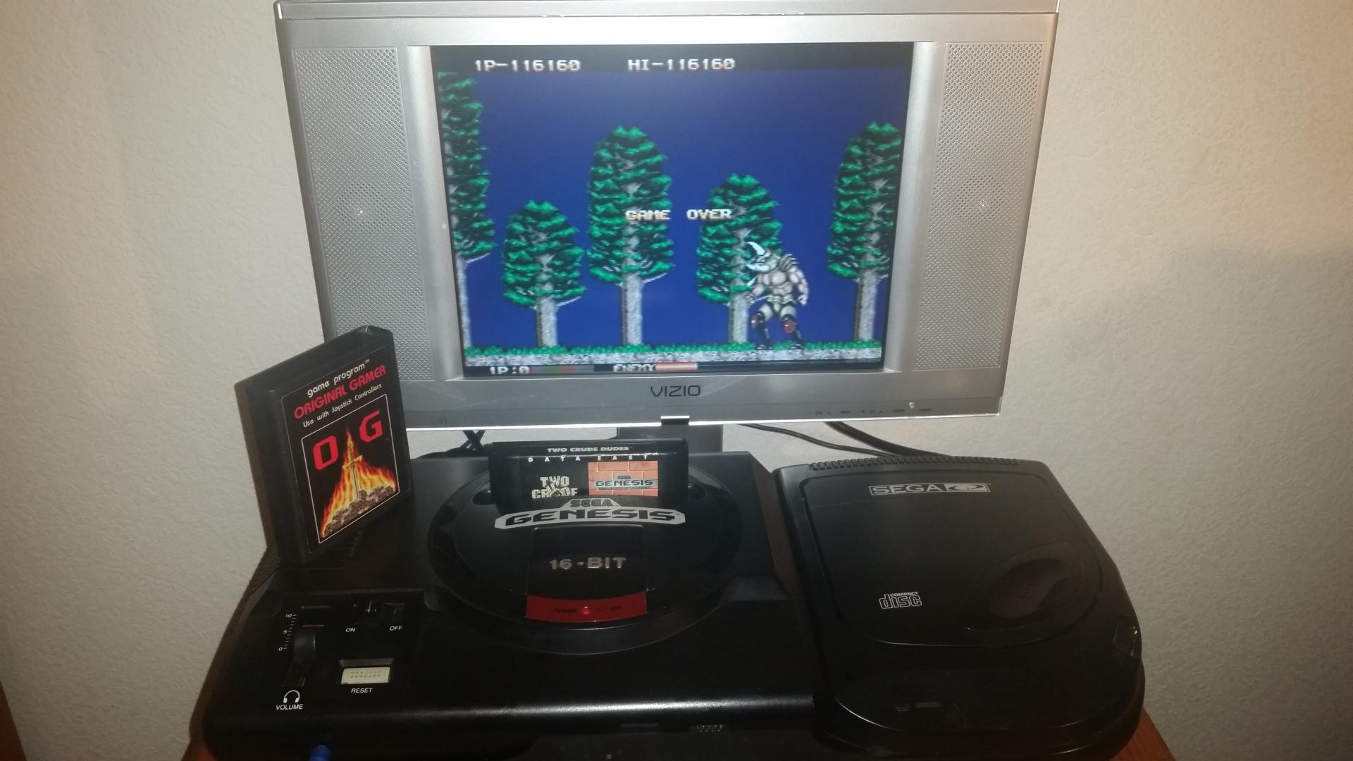 OriginalGamer: Two Crude Dudes [Normal/3 Lives] (Sega Genesis / MegaDrive) 116,160 points on 2016-10-24 19:16:03