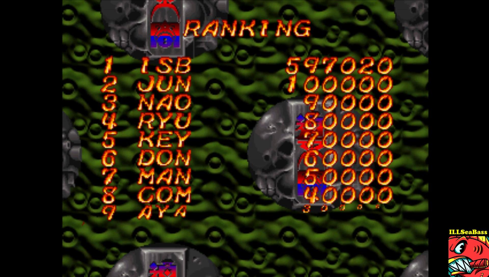 ILLSeaBass: Two-Tenkaku [easy] (Playstation 1 Emulated) 597,020 points on 2017-02-16 23:27:17