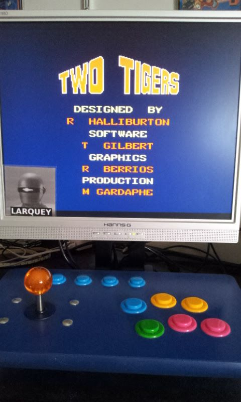 Larquey: Two Tigers [twotiger] (Arcade Emulated / M.A.M.E.) 83,450 points on 2017-09-10 11:17:34