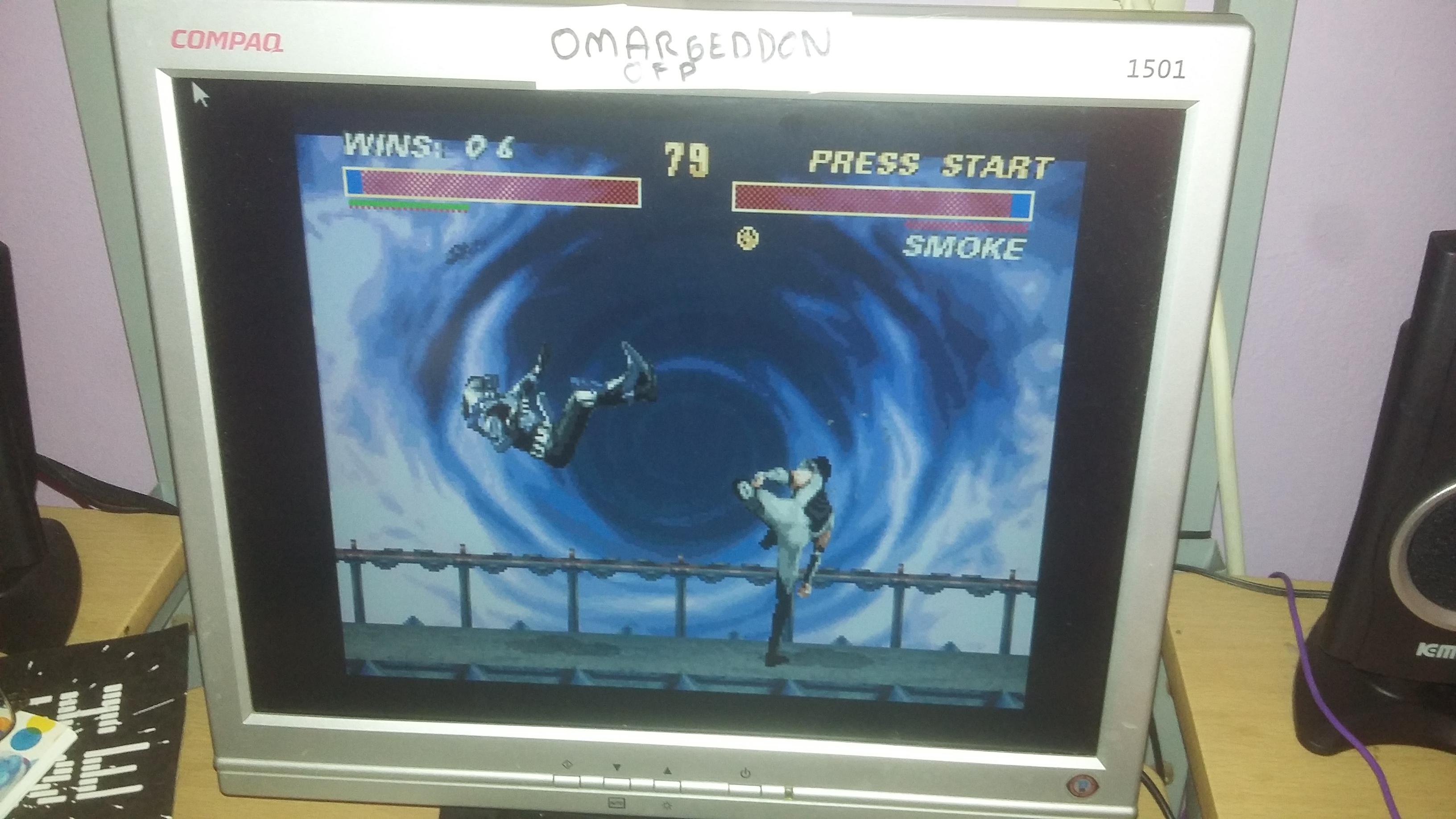 omargeddon: Ultimate Mortal Kombat 3 [Win Streak] (SNES/Super Famicom Emulated) 6 points on 2016-10-14 17:30:08