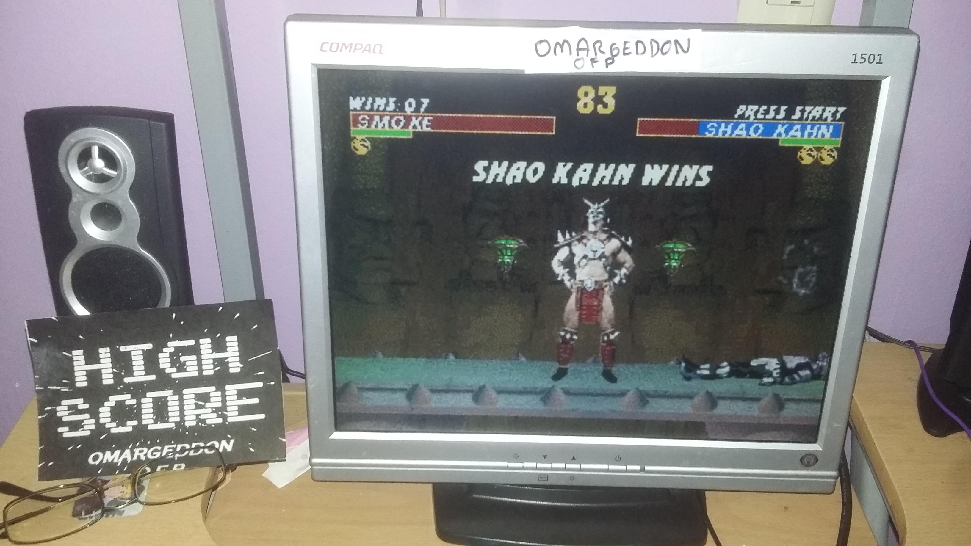 omargeddon: Ultimate Mortal Kombat 3 [Win Streak] (Sega Genesis / MegaDrive Emulated) 7 points on 2016-10-26 20:30:23